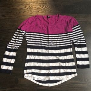 Express Lightweight Stripped Sweater Size S